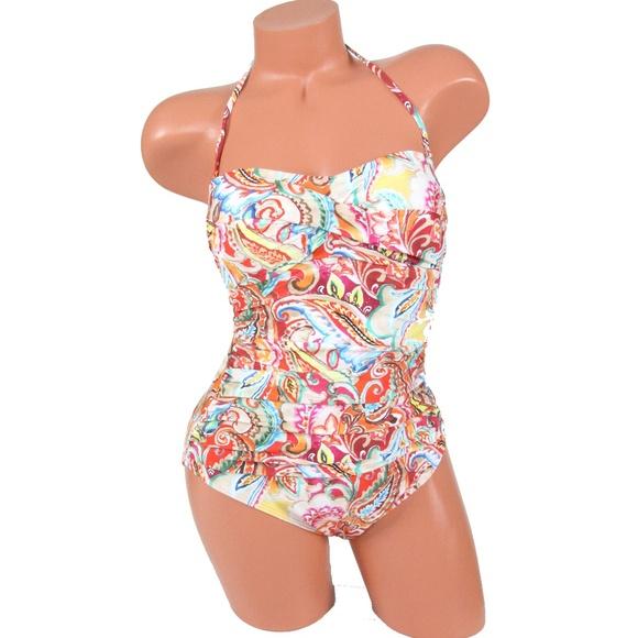 Ralph Lauren Sunrise Paisley Mio Swimsuit